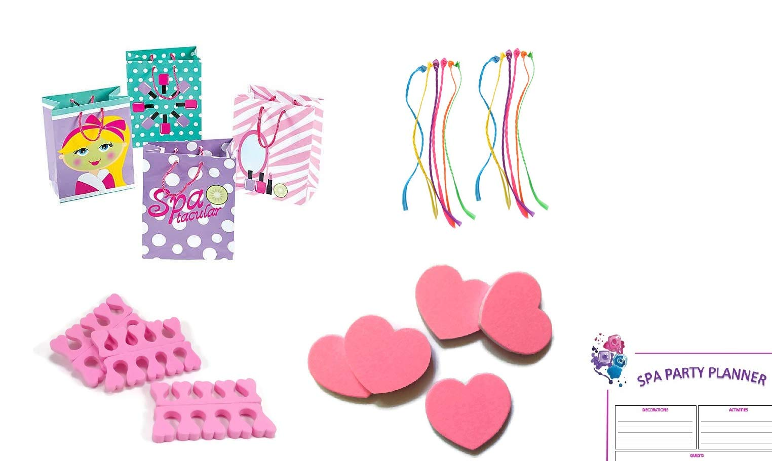 Spa Party Supplies, Favor for Girls (61 Piece Set for 12 Guests), Gift Bundle