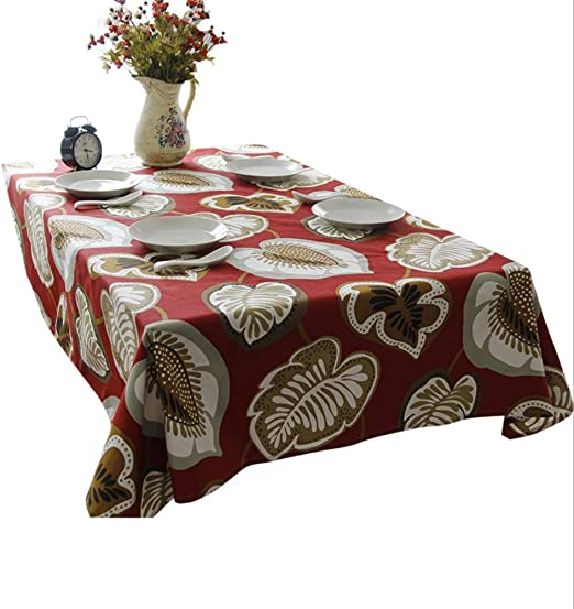 NEW Polyester Tablecloth Cover Restaurant Oil-proof//Waterproof,Wooden 140cm