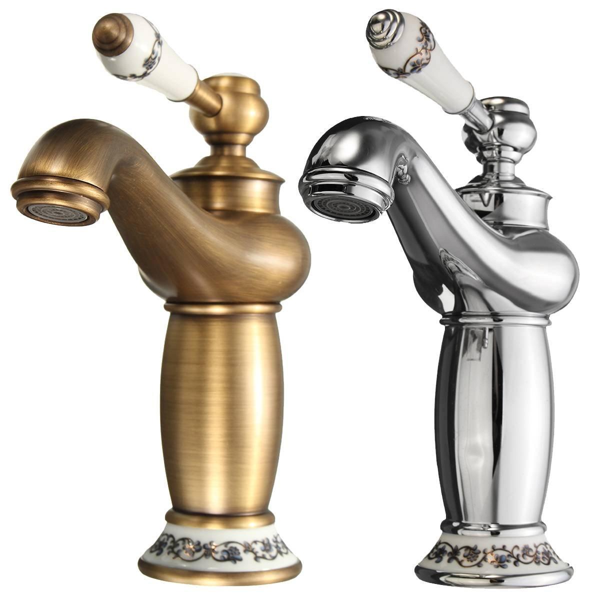 KING DO WAY Wasserhahn antiken bronze Messing becken spuele ...