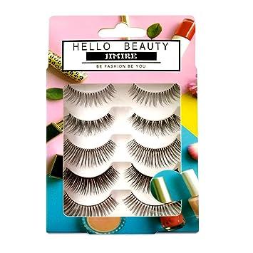 49ef4168f74 Amazon.com : JIMIRE False Eyelashes 5 Pairs Lashes 5 Styles Variety Fake  Lashes Pack : Beauty