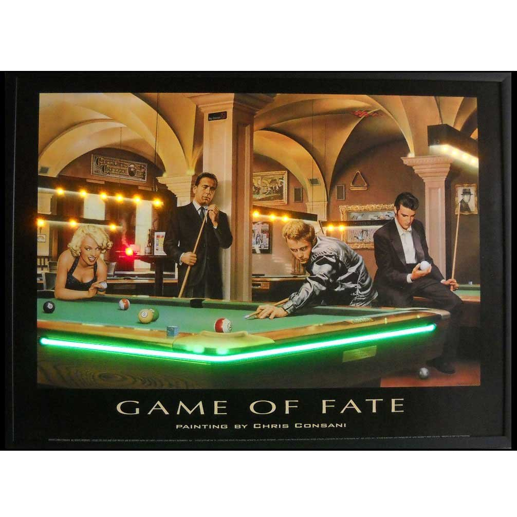 Neonetics Game of Fate Neon LED Lighted Framed Vintage Advertisement Wall Art
