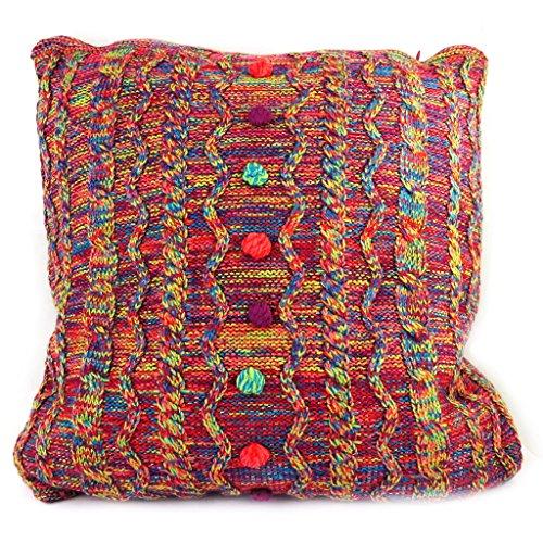 Creative cushion 'Desigual' red multicolor (44x44 cm (0.00''x17.32'') ).