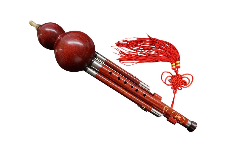 100% Handgeschnitzte Standard Hulusi – Blasinstrument Chinesische Flöte #110 HLS - 110