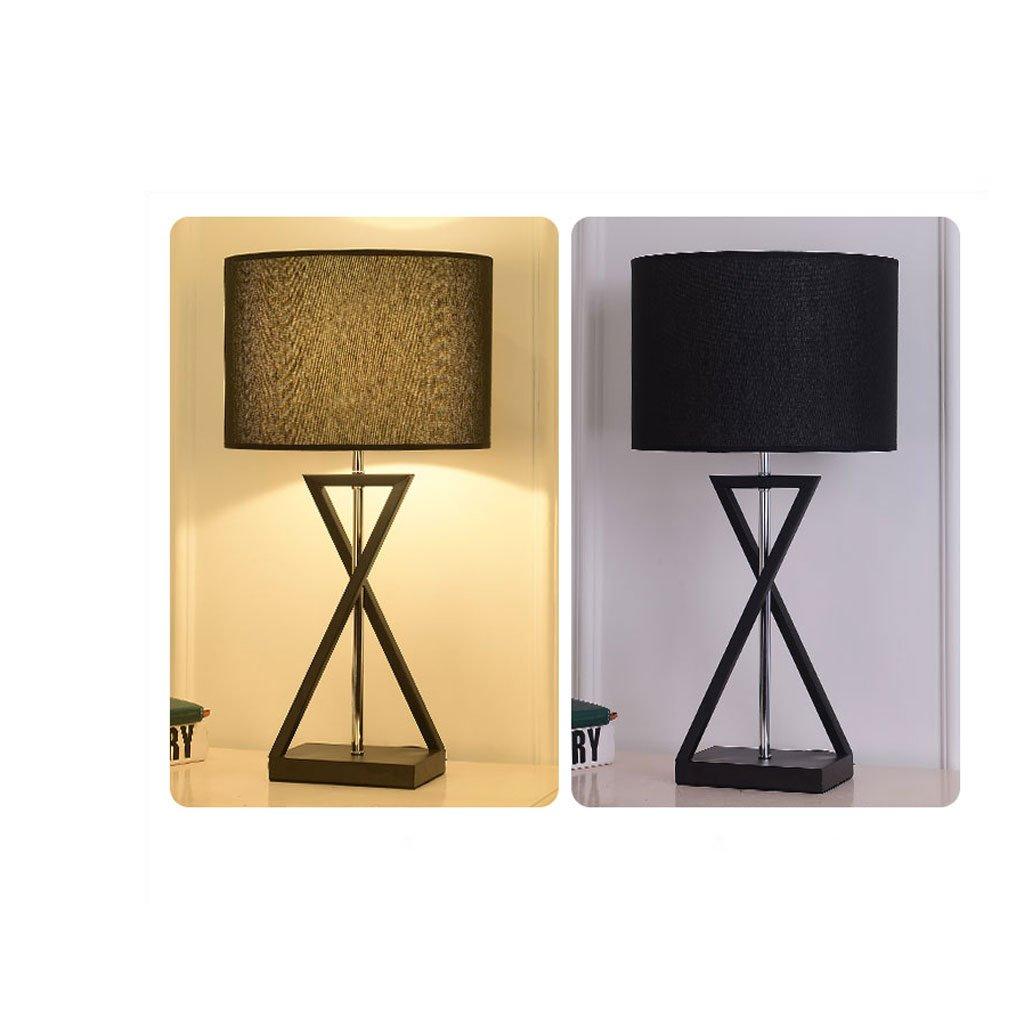 Rainbow Modernes minimalistisches Schmiedeeisentischlampenwohnzimmer, Schmiedeeisentischlampenwohnzimmer, Schmiedeeisentischlampenwohnzimmer, Schlafzimmer, Nachttischlampe, Studie, warme Gewebelampe (Farbe   schwarz-Remote Control) B07BW8P9N2 | Sonderpreis  dd6c1b