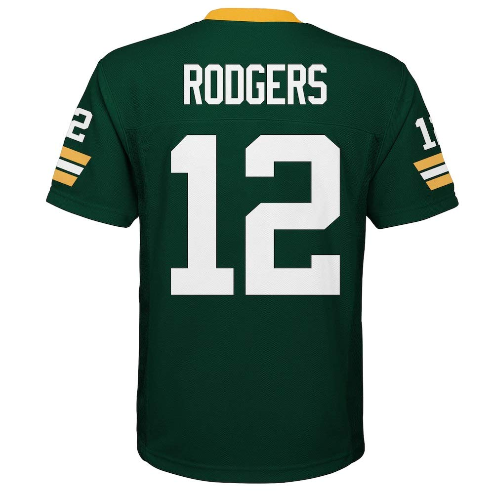 Aaron Rodgers Green Bay Packers NFL Boys Youth 8-20 Green Home Mid-Tier Jersey