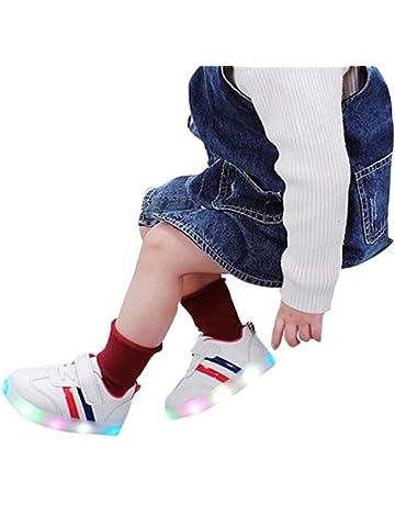 Zapatillas Niño, JiaMeng Zapatos Zapatillas de luz de Colores para Bebés Zapatillas de Deporte Transpirables