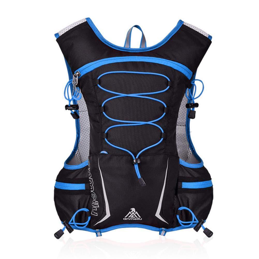 Flickering Hydration Pack Marathon Running Vest - Leak-Proof Hydration Reservoir Blue