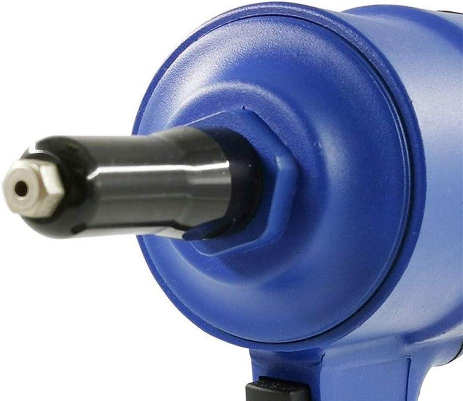 Decoration Engineering Pneumatic Nailing Tool Industrial Grade Hand Tool Pneumatic Rivet Color : Blue