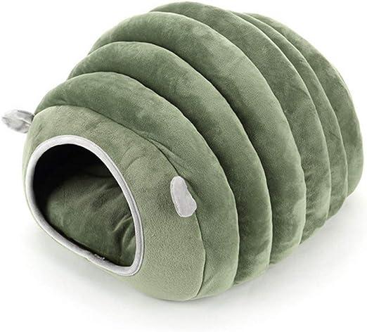 Nido de algodón para gato, forma de hámster de oruga de algodón, arena para gatos, perros pequeños, nidos cerrados de invierno Dgg: Amazon.es: Hogar