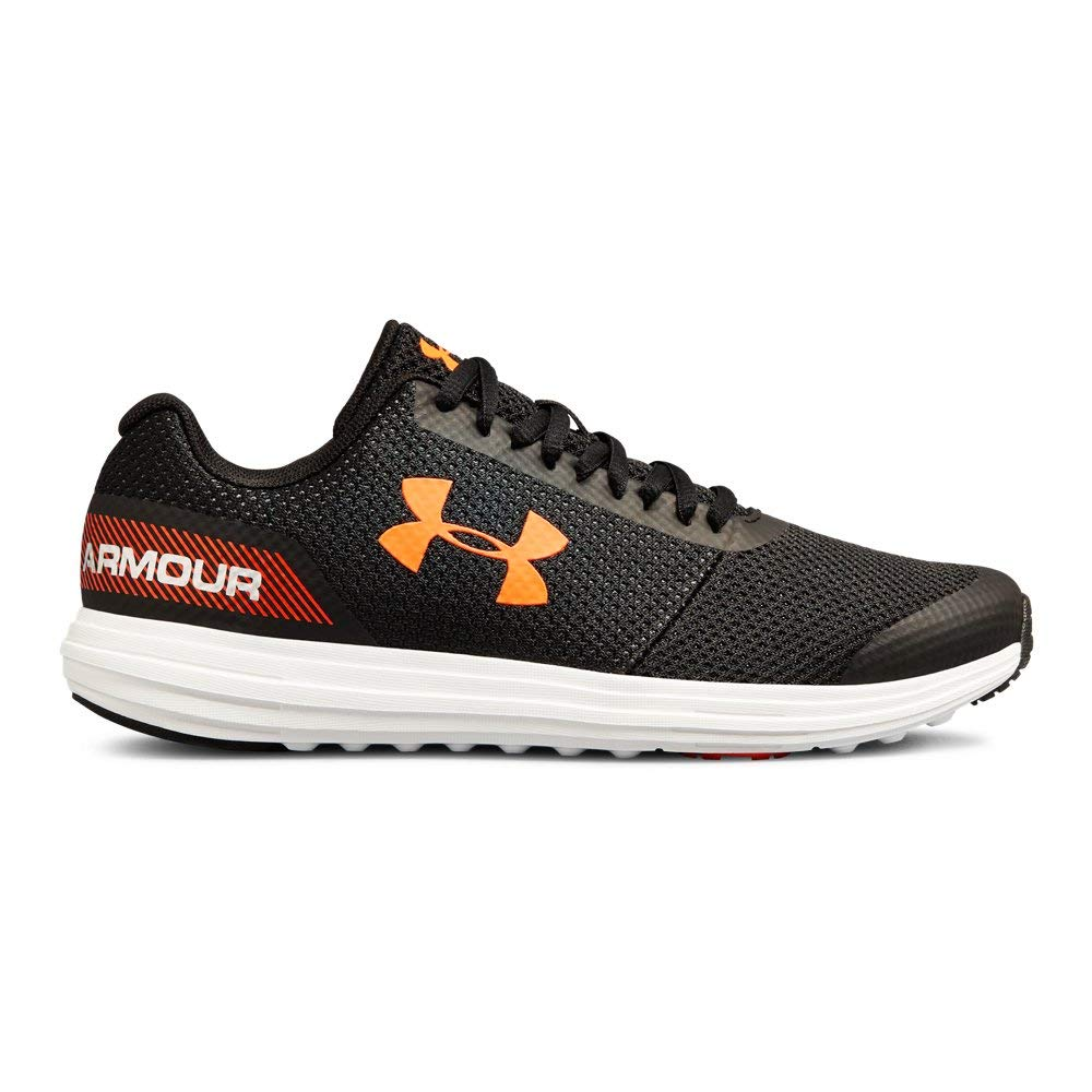 Under Armour Boys' Grade School Surge RN Sneaker, Black (002)/White, 4.5 by Under Armour (Image #1)