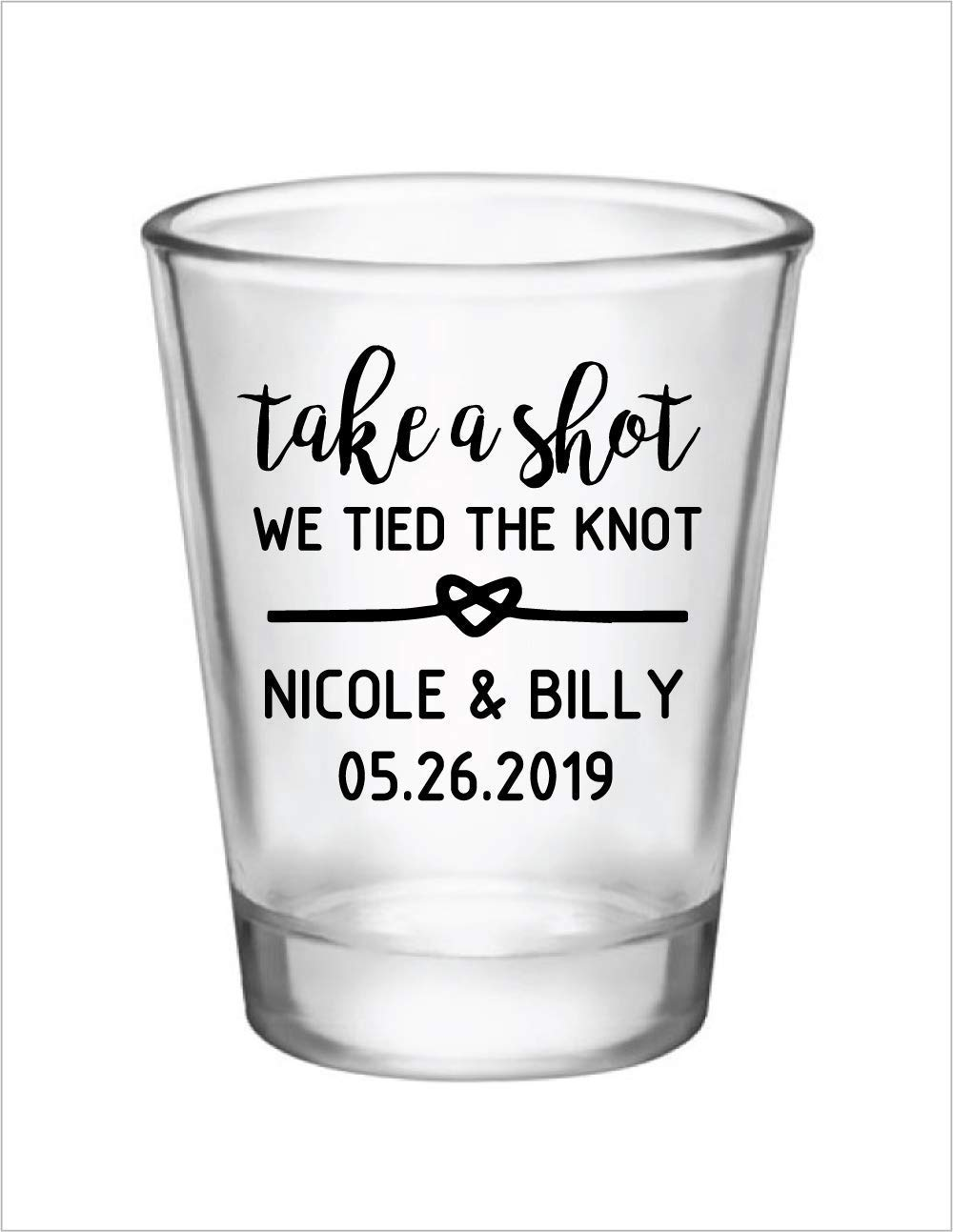 Take a Shot We Tied the Knot Tags Take a Shot Tags Take A Shot Tag Shot Glass Favor Shot Glass Favors Wedding Shot Favor Custom Drink Tags