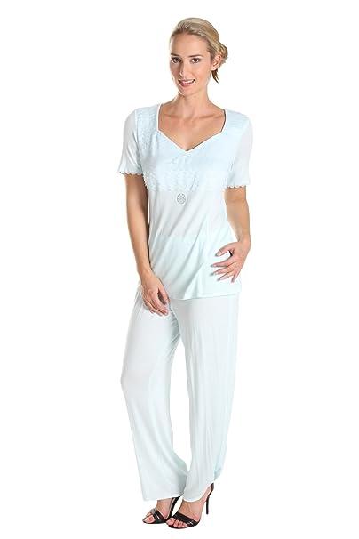 féraud Paris Mujer Pijama Con Detalles De Gasa 34101084 Cristal 48