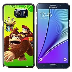 EJOOY---Cubierta de la caja de protección para la piel dura ** Samsung Galaxy Note 5 5th N9200 ** --Feliz del mono del gorila de la historieta