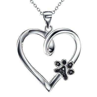 Purposefull Heart with Dog Paw Print Charm Drop Earrings - Dog Lovers Gift Idea - Dog Paw Earrings N9rn16ygq