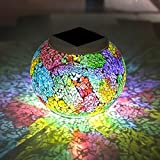 Christmas Solar Table Lights – SurLight Christmas Glass Ball Lights Color Changing Solar Garden Lights, LED Night Lights for Christmas Halloween Decorations Home Party Patio, Best Christmas Gifts