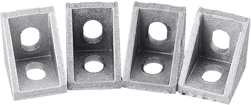 Desconocido 4pcs 2020 Perfil de Aluminio Esquina ángulo Soporte ...