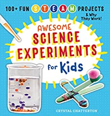 Loaded with 100+ kid-tested experiments in science, technology, engineering, art, and math—Science Experiments for Kids puts the STEAM back in learning.              Getting kids excited about science can be difficult. Science...