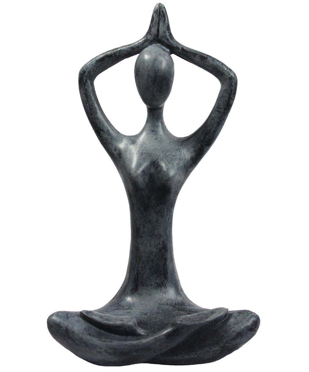 9'' Tall Sandstone Yoga Mountain Pose Sculpture