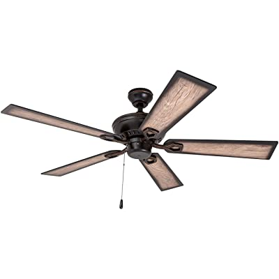 Buy Prominence Home 40278 01 Glenmont Rustic Ceiling Fan With Barnwood Blades Led Edison Bulbs 3 Seeded Glass Fixtures 52 Inches 5 Blade Oil Rubbed Bronze Online In Mozambique B07611k219