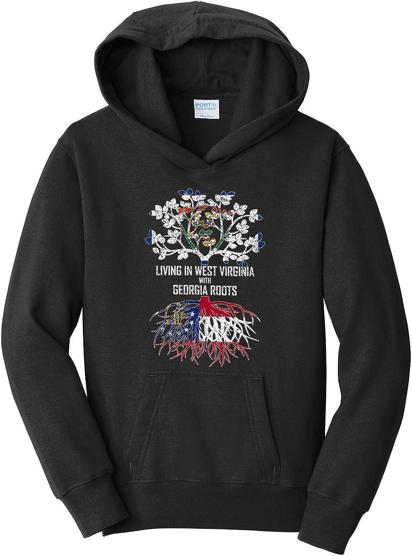 Tenacitee Girls Living in West Virginia with Georgia Roots Hooded Sweatshirt