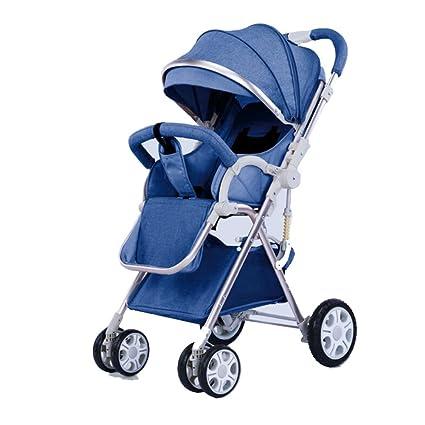 YXINY Carritos y sillas de Paseo Infantil Carro De Dos Vías Plegado Simple A Prueba De