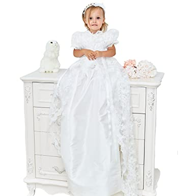 Amazon.com: Candy Baby Beautiful Vintage Victorian Lace Christening ...