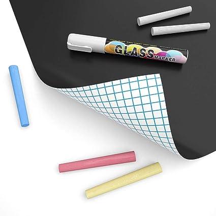 Pegatina de pizarra autoadhesiva de papel de contacto para pizarra negra para el hogar, oficina, escuela, borrado en seco, pegatina de pizarra ...