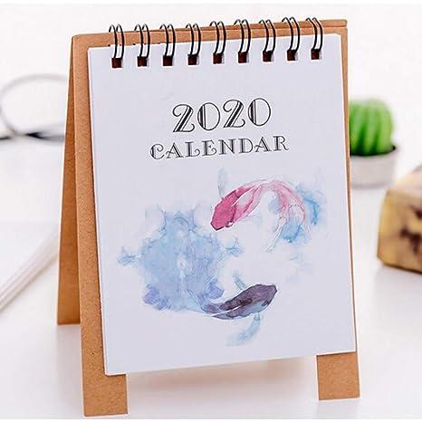 New 2019 Cartoon Calendar DIY Desktop Cute Mini Table Desk Plan Calendar Cartoon