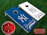 nfl quarterback board game - New York Yankees Cornhole Board Decals - SILVER - 6PC Set Fit for Bean Bag Toss Outdoor Game Sticker Set - Die Cut DIY Game Board Stickers - DECALS ONLY
