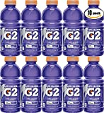 Gatorade G2 Grape, Low Calorie Thirst Quencher, 20oz Bottle (Pack of 10, Total of 200 Oz)