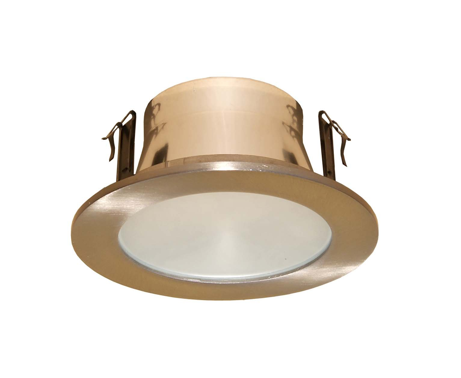 4 Inches Frosted Lens Shower Trim for Line Voltage Recessed Light-(Satin Nickel)- Fit Halo / Juno