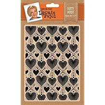 Leonie Pujol Dotty Heart Embossing Folder, White by Leonie Pujol