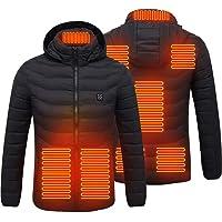 Stecto Chaqueta calefactora, eléctrica de recarga, calentador de cuerpo con 8 zonas de calefacción, chaqueta cálida…