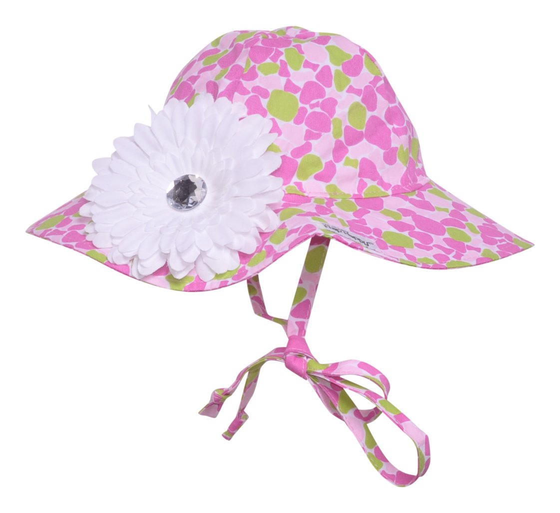 UPF 50+ Floppy Hat w/Flower | Sea Glass X-Small
