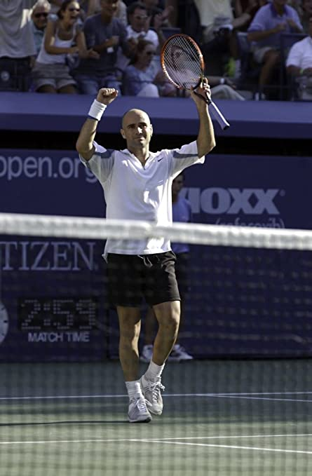 c091b30114e8 Andre Agassi at The US Open Photo Print (24 x 30)  Amazon.in  Home   Kitchen
