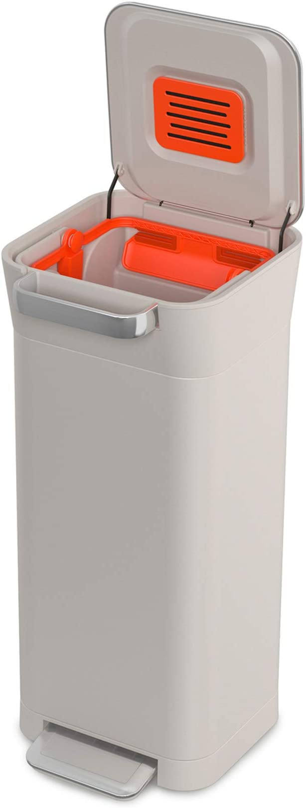 ABS PP Joseph Joseph Intelligent Waste Titan Trash Compactor Fino a 60L Dopo Compattazione in Acciaio Inox Litri