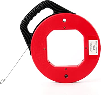 HUGE 50FT ELECTRICIAN FISH TAPE Cable//Wire Puller Drywall Threader Large//Long