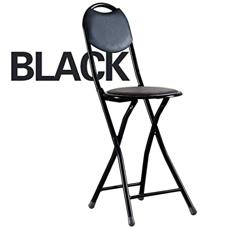 Amazon.com: Folding Chairs Dining Chair Round Stool Folding ...