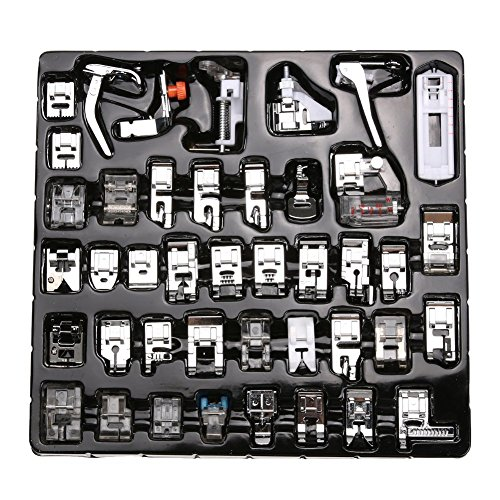 ELEOPTION Sewing Supplies Accessories Tools, Domestic Sewing Machine Foot Presser Feet Set For for Brother, Babylock, Singer, Janome, Elna, Toyota, Low Shank Sewing Machines (42pcs) -  ElEOPTIONERT