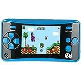 QINGSHE QS-4 Consoles de Jeux Portables, Console de Jeux Retro FC Game Console 2.5 Pouces TFT Écran 182 Rétro Classique Jeux, Arcade TV Jeux Vidéo, Cadeau d'anniversaire pour Enfants (Bleu)