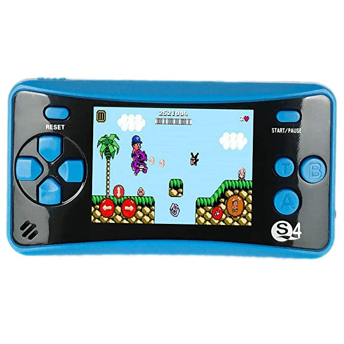 JJFUN QS-4 Handheld Game Console for Kids, Portable Arcade Entertainment Gaming System Retro FC Video Game Player 2.5″ Color LCD 182 Classic Games, Birthday Present for Children $18