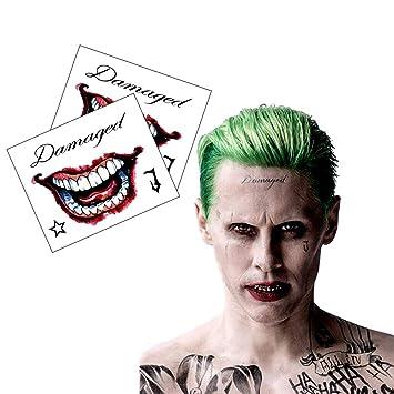 Ss Joker Mr J Face Hand Temporary Tattoos