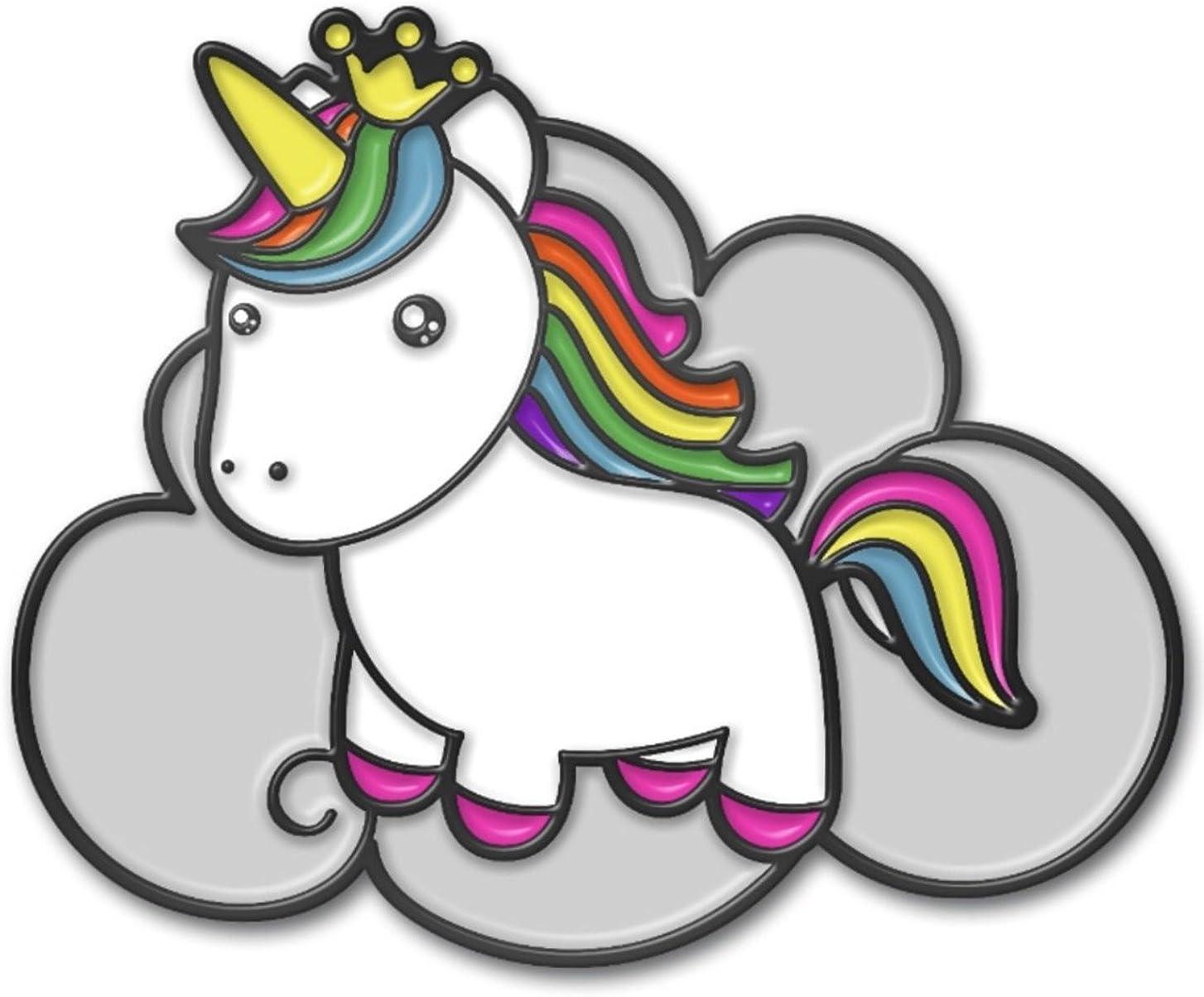 Rainbow Unicorn Enamel Brooch Lapel Pin