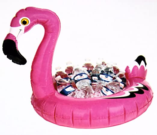 Midwood Brands, LLC Pink Flamingo - Enfriador de Mesa Hinchable ...