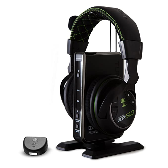 Turtle Beach XP510 Diadema Negro, Verde auricular con micrófono - Auriculares con micrófono (Consola de juegos, Diadema, Negro, Verde, Inalámbrico y ...
