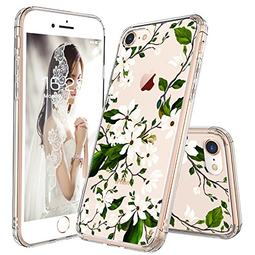 sports shoes 10a6f f4896 iPhone 7 Case, iPhone 8 Case, MOSNOVO Floral Magnolia Flower Pattern Clear  Design Transparent Plastic Back Phone Case with TPU Bumper Protective Case  ...