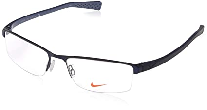 b54c6549a48 Amazon.com  Eyeglasses NIKE 8097 400 SATIN BLUE-MIDNIGHT NAVY ...