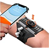 VUP Upgraded Running Armband Detachable & 360°Rotation with AirPods/AirPods Pro Holder Phone Armband for iPhone, Samsung, All