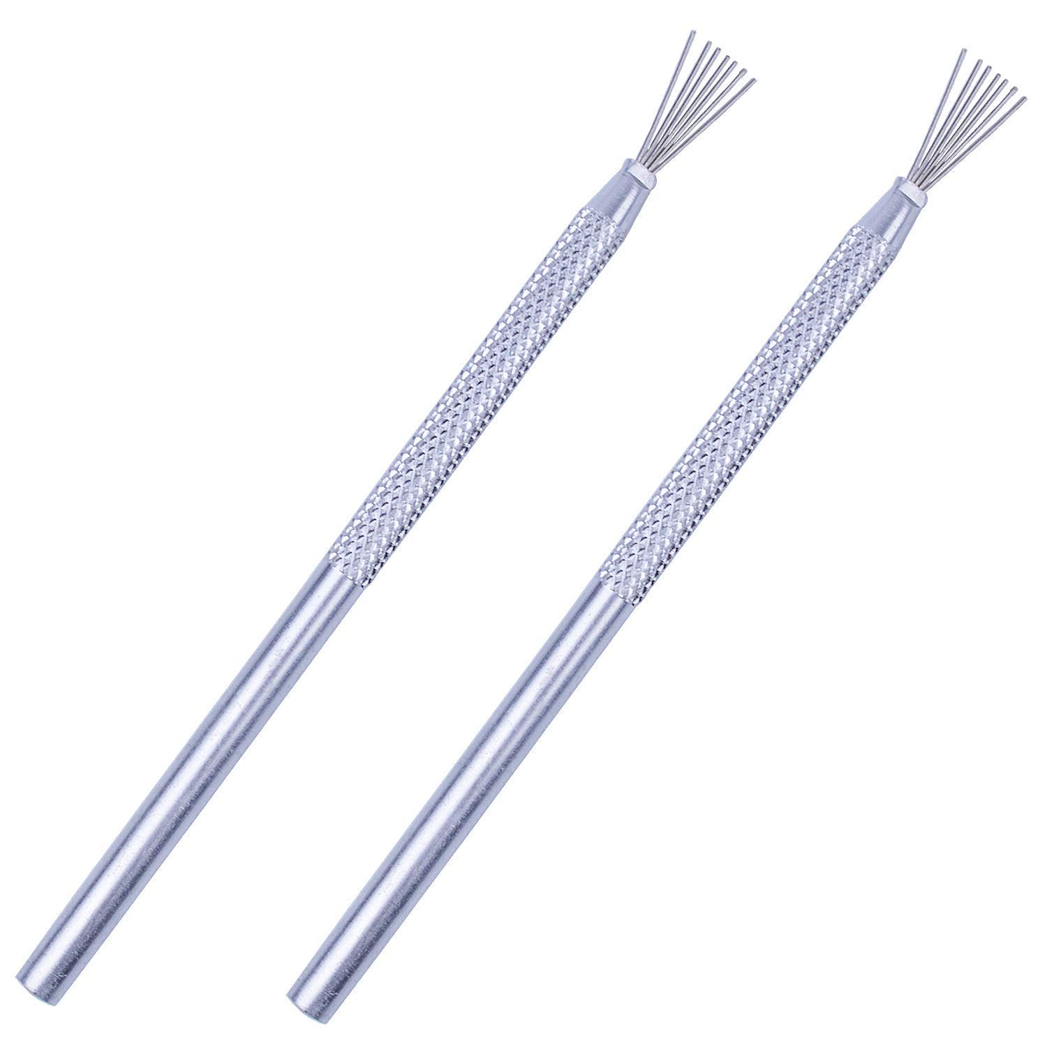 BronaGrand 2pcs Feather Wire Texture Tool for Clay Sculpting Texturing Modeling Tools