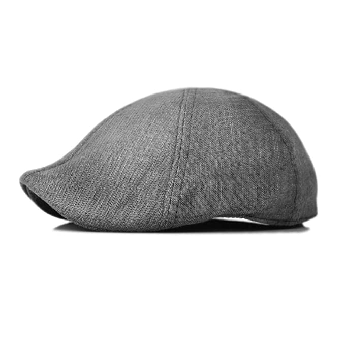 0e4f5d5d15b Duckbill Linen Newsboy Cotton Gatsby Cap Mens Ivy Hat Golf Summer Sun Flat  at Amazon Men s Clothing store